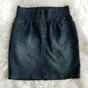liz lange maternity skirt jean denim size 6 womens